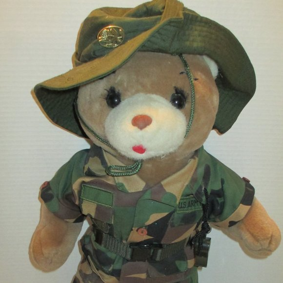 "Vintage 1989 Bear Forces of America 11"" US Army"